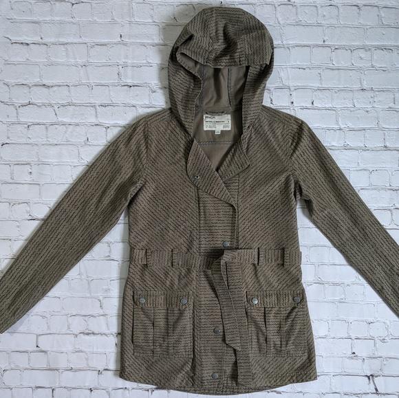 RVCA Jackets & Blazers - RVCA Khaki Green Hooded Utility Jacket